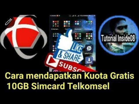 Cara Mendapatkan Kuota Gratis 10gb Simcard Telkomsel 2018 Youtube
