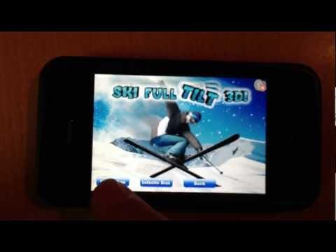 Ski Full Tilt 3D IPhone, IPad And Android App - Single Run Level