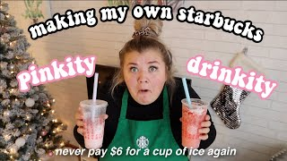 MAKING MY OWN PINKITY DRINKITY *james charles could never*  vlogmas day 17