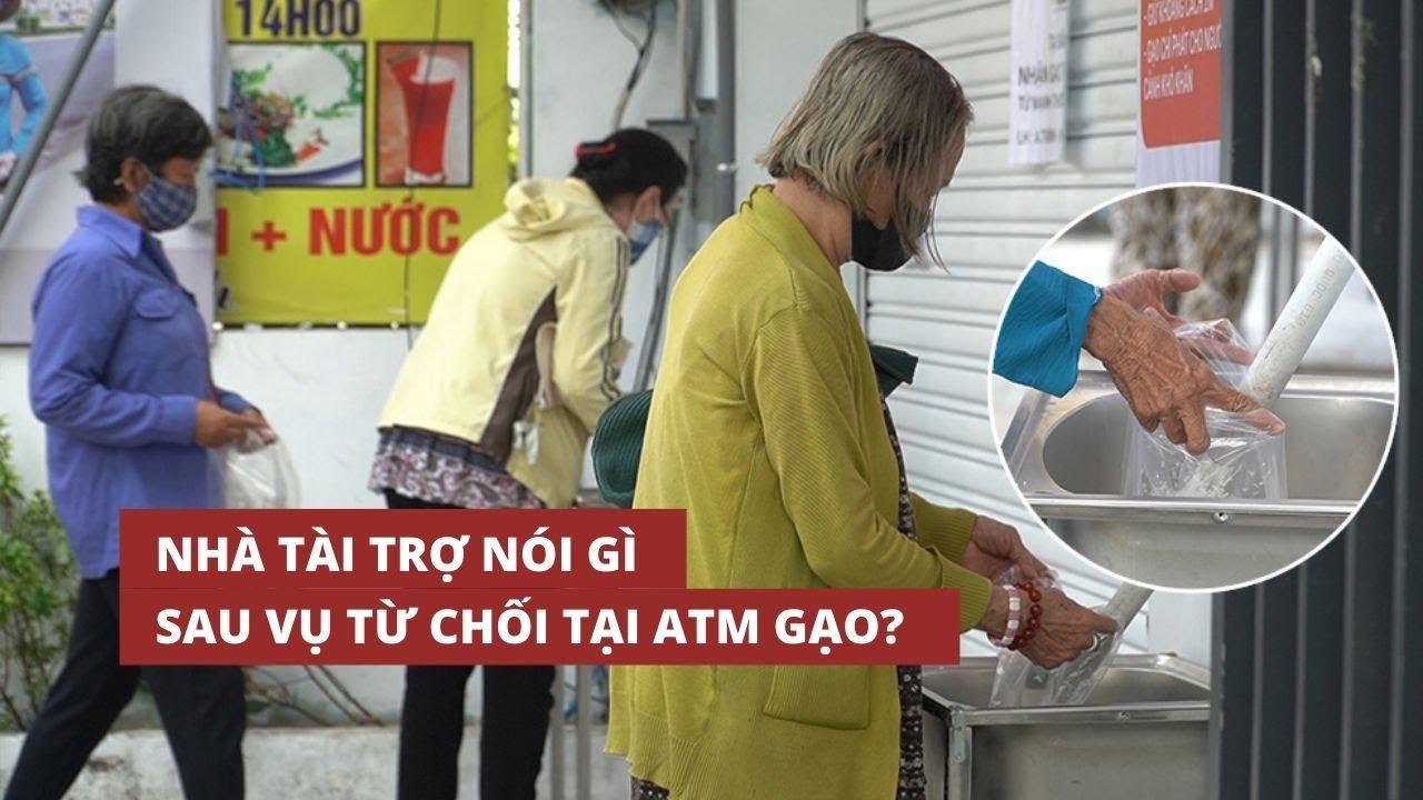 Nhà tài trợ nói gì sau vụ người nghèo bị từ chối nhận tại ATM gạo?