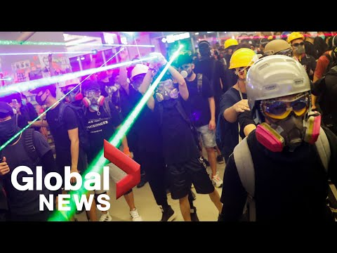 Hong Kong protests: Police storm Yuen Long station to disperse protesters | FULL