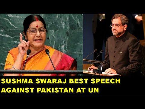 Sushma Swaraj FULL SPEECH Against PAKISTAN at UN, PAK Shocked