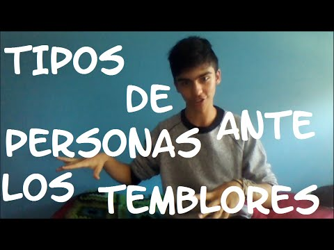 Tipos de personas ante los Temblores | Matias Muñoz