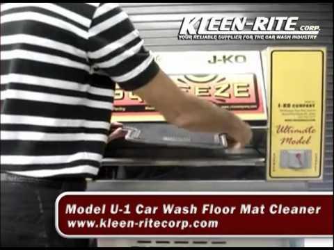 J Ko Car Wash Floor Mat Cleaner Kleen Rite Youtube
