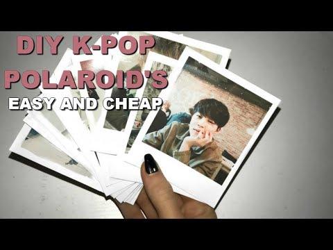 DIY K-Pop Polaroids *Cheap and Easy* // ItsGeorginaOkay