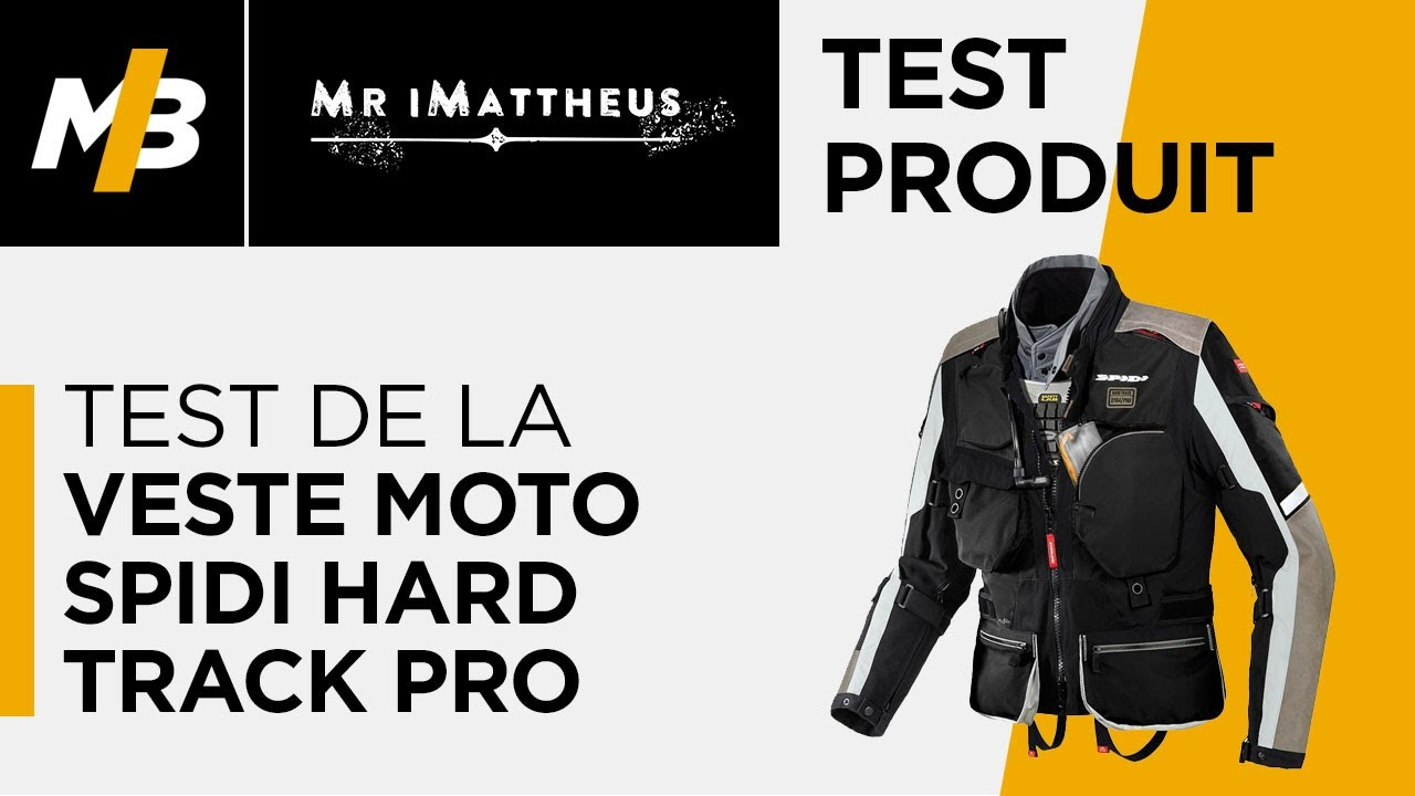 a61b51669a6 Test de la veste moto Spidi Hard Track Pro - YouTube