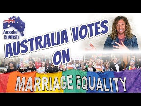 Australia Votes On Marriage Equality   Australian Culture   Learn Australian English