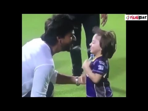 Thumbnail: Shahrukh Khan's son Abram spits water on him, watch video | filmibeat