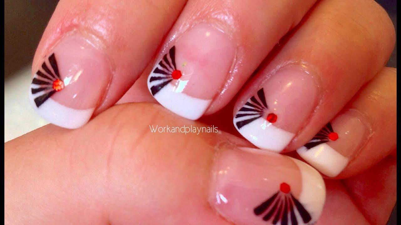 Japanese Fan Nail Art Featuring Born Pretty Hexagon Glitter Review
