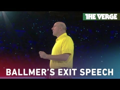 Ballmer thanks Microsoft Employees in farewell address