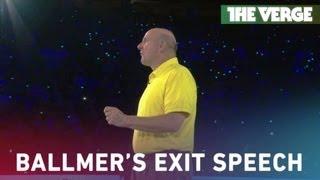 Ballmer thanks Microsoft Employees in farewell address
