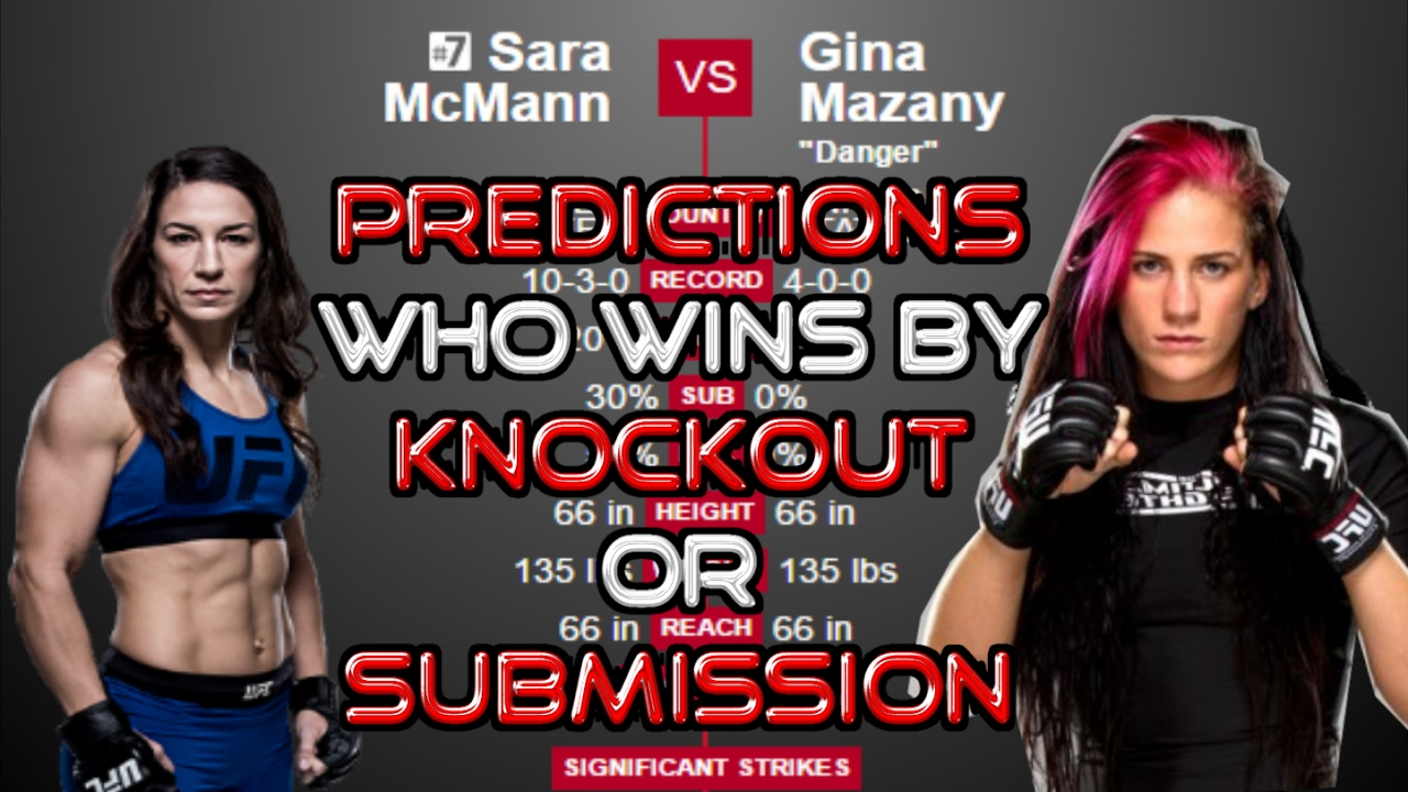 UFC Predictions: (Fight Night Halifax) Sara McMann vs Gina Mazany ...