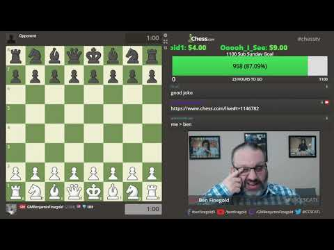 1100 Subs Sunday With GM Finegold - Feb 9, 2020