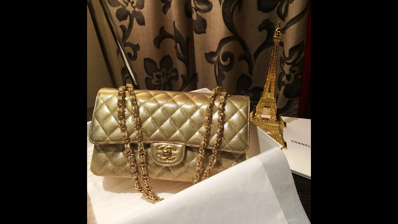Lizzieasamummy  Chanel Cruise 2015 Collection Gold Perforated Calfskin  Unboxing - YouTube f32687840d9e1