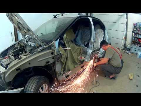 Рено Логан ремонт кузова в Нижнем Новгороде Renault Logan Auto body repair