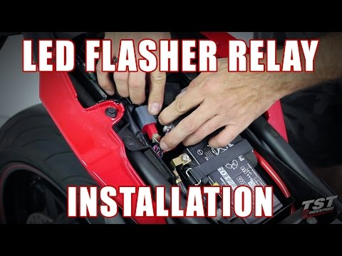 How to install LED Flasher Relay on a 2014-2016 Yamaha FZ-09 by TST Industries