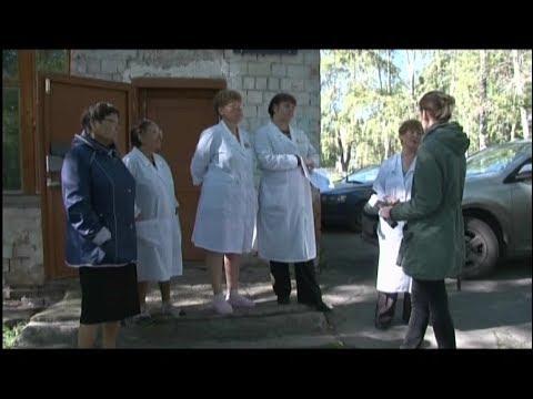 Видео с санитарками блонди платье