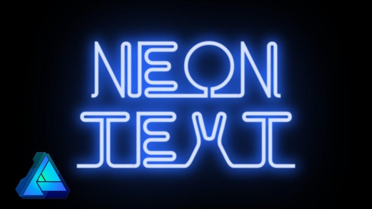 Neon Text Effect: Affinity Designer Tutorial