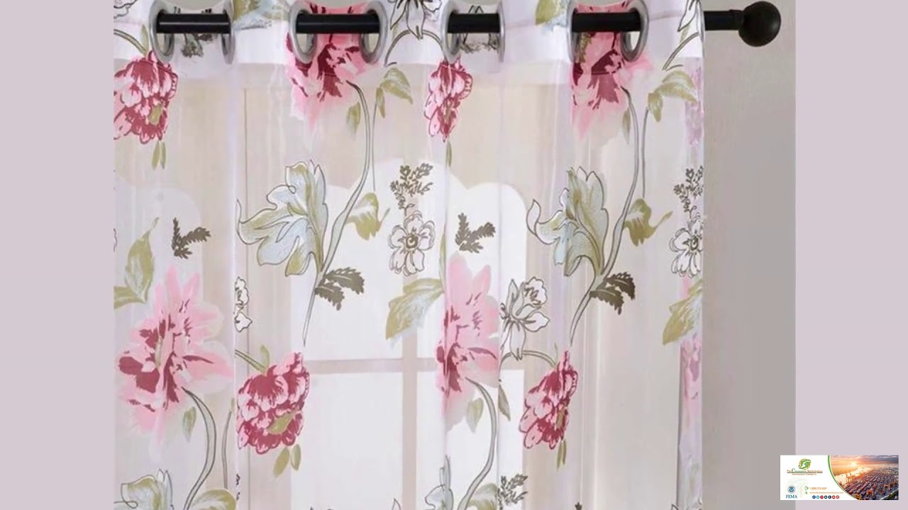 Kitchen Door Curtains Floral Tulle Curtains For Living Room Bedroom Kitchen Door Curtains Free Shipping