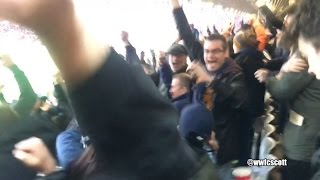 wolves fans celebrating weimann goal at liverpool away 28 1 17