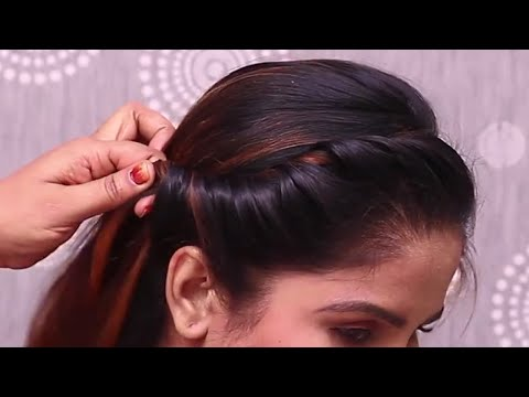 side puff with french braid hairstyle || new 2020 hairstyle || everyday use hairstyles || hair hacks