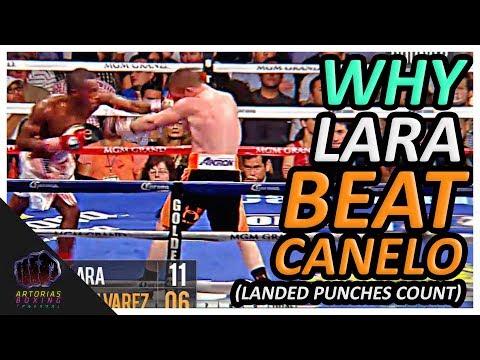Why Erislandy Lara Beat Canelo Alvarez (Landed Punches Count) #CaneloGGG