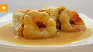 Фаршированный перец без мяса в томатном соусе. Вегетарианский рецепт от Мармеладной Лисицы