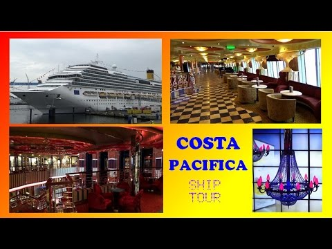 COSTA PACIFICA  SHIP TOUR   RUNDGANG