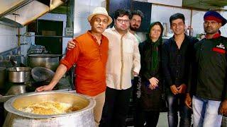 Making of The ORIGINAL BAWARCHI BIRYANI In Hyderabad   Tasting MUTTON DUM BIRYANI  CHICKEN BIRYANI