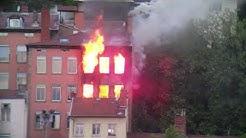 Incendie - Lyon - Croix-Rousse - Montée Bonnafous - 30/04/2020