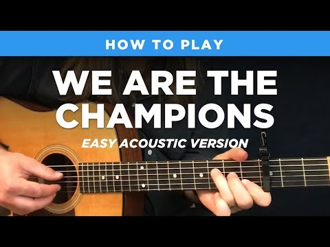 🎸 We Are The Champions • Easy acoustic guitar lesson (Queen)