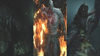 Resident Evil 2 Remake - All Boss Fights & Ending  (RE2 Remake 2019) PS4 Pro