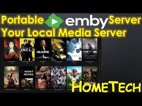 emby server portable installation setup on windows | home media