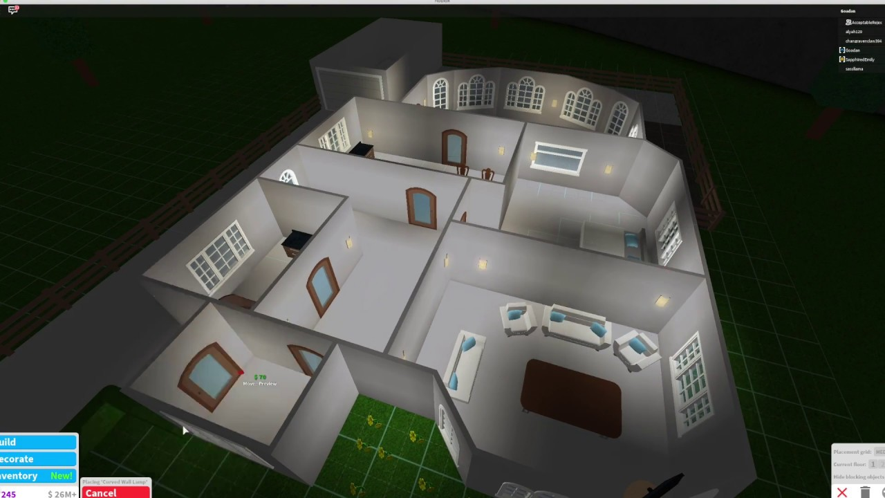 Robloxbloxburg 10000 House New Tutorial - Bloxburg House 1 Story Layout Related Keywords Suggestions