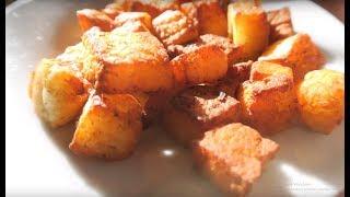 Рецепт как быстро пожарить сыр Панир (адыгейский) и приготовить обед. Соус для макарон по Бразильски