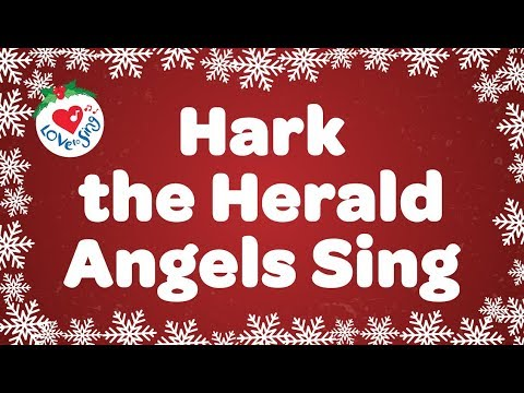 Hark the Herald Angels Sing with Lyrics Christmas Carol Sung by Children's Choir