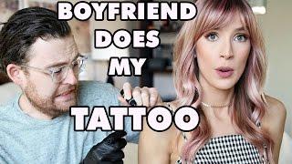 BOYFRIEND DOES MY TATTOO?! | leighannsays