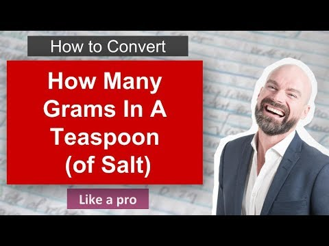 How Many Grams In Teaspoon Of Salt