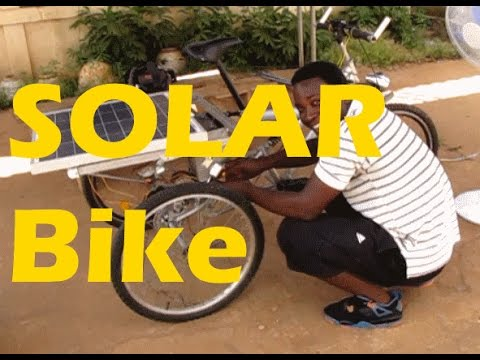 Solar Bike in Lome Togo West Africa