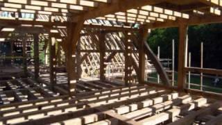 'bigwood' Oak Frame Raising By Westwind Oak Buildings Ltd