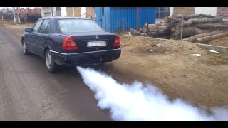BENZ W202 motor terminat/blow engine/3 cylinder running/indestructible engine