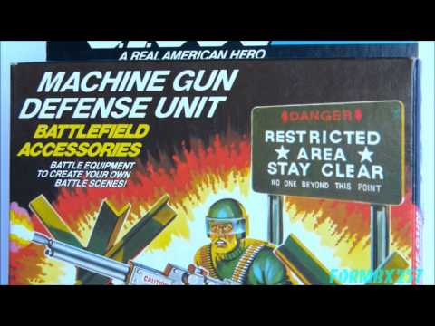 QUICK LOOK AT 1984 G.I. Joe Machine Gun Defense Unit