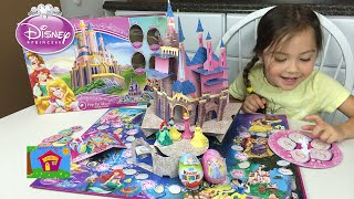 Disney Princess Castle Pop-Up Magic Game with Surprise Eggs! Kids Game