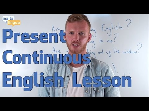 Present Continuous - English Grammar Lesson (Elementary)