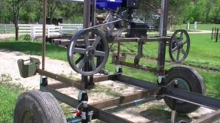 168 RSW Homemade Bandsaw Mill Part 1