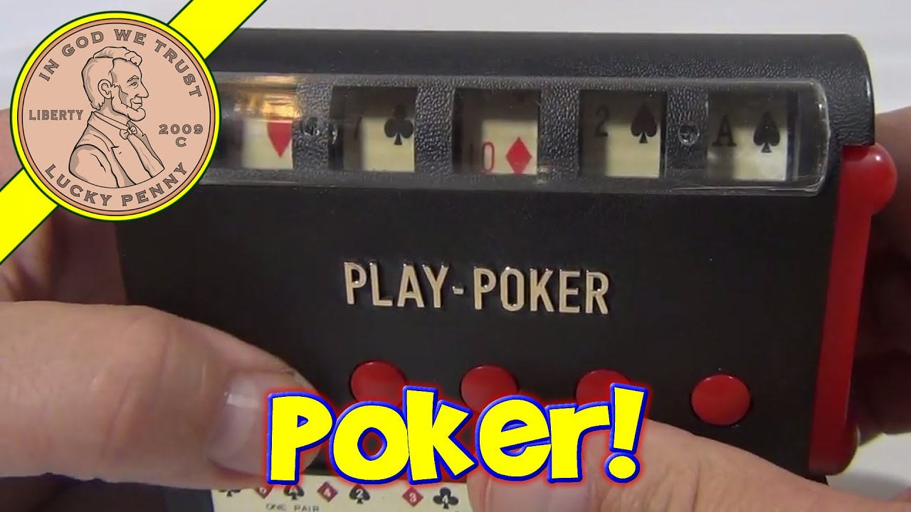 Play Poker Electronic Handheld Slot Machine Game, 1970 ...
