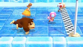 Mario Party 10 Coin challenge 7 Rounds #34 - Toad , Donkey Kong , Toadette , Daisy