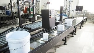10kg automatic big lids buckets weighing filling caps falling press capping machinery automated line