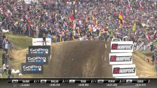 Valentin Guillod passes Jordi Tixier MXGP of Germany 2015 - motocross