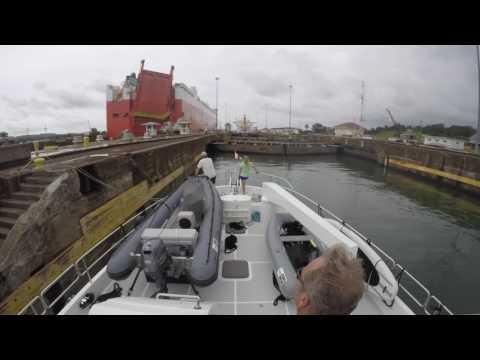 Panama Canal transit aboard M.Y. Kya